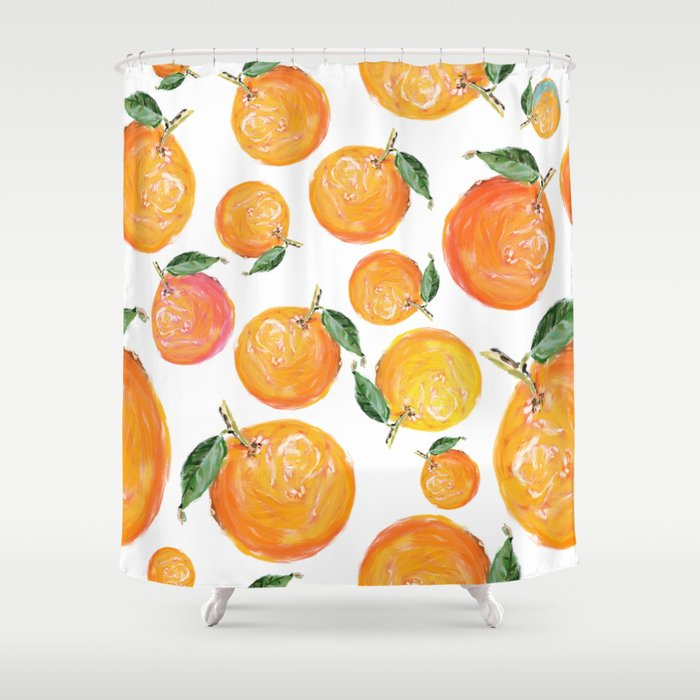 Rome Forest Oranges Shower Curtain