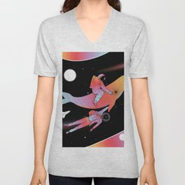 Coexistentiality 4 (A Journey Through Space and Time) Unisex V-Neck