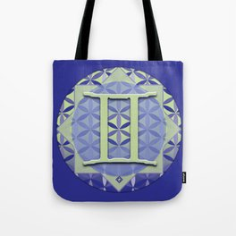 GEMINI Flower of Life Astrology Design Tote Bag