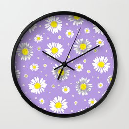 Daisies - Purple Wall Clock