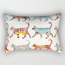 Cat Collection: Watercolor Rectangular Pillow
