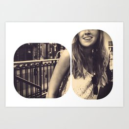Smile for me.  Art Print