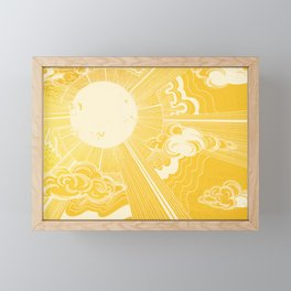 Solar Flare Framed Mini Art Print