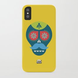 Mouscacho Skull 1 iPhone Case