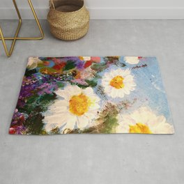 Daisy Painting by Rose Eliane Rug
