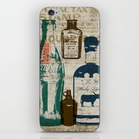 medicine iPhone & iPod Skins featuring Dirty Medicine by Tim Schmidt X Design