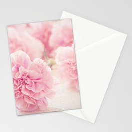 Pretty Pink Carnation Flowers Photograph Stationery Cards