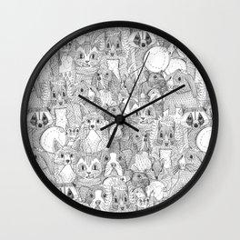 crazy cross stitch critters Wall Clock