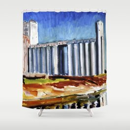FIVE ROSES FLOUR REFINERY II Shower Curtain