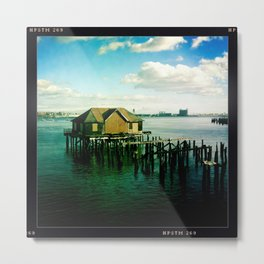 Abandoned Pier - Boston Metal Print