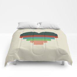 heart geometry Comforters