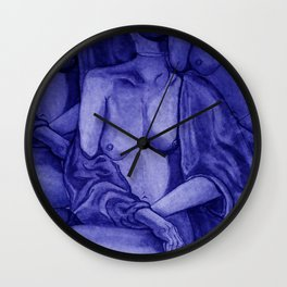 Lady Unknown Blue Wall Clock