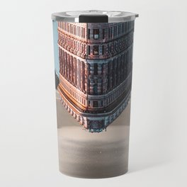 New York Upside Down Surreal Travel Mug