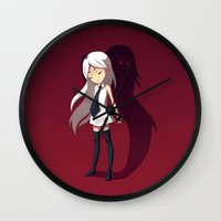 shadow Wall Clocks featuring Shadow by Freeminds