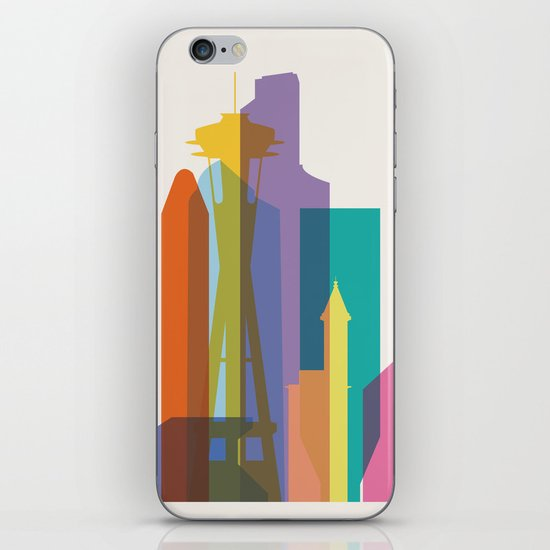 Shapes of Seattle accurate to scale iPhone & iPod Skin