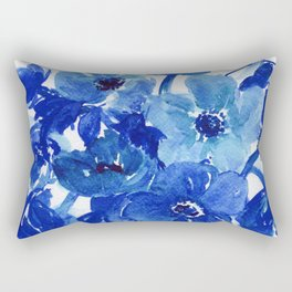 blue stillife Rectangular Pillow