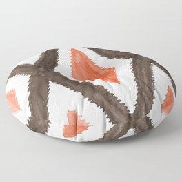 Del Rio Watercolor in Burnt Orange Floor Pillow