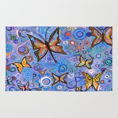 Butterflies are Free Rug