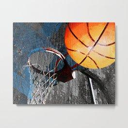 Basketball wall art swoosh 115 - Basketball art print Metal Print