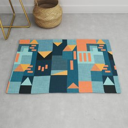 Yellow Klee houses Rug