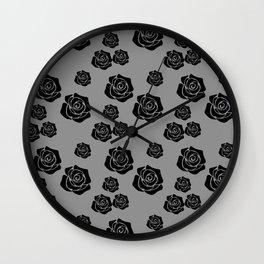 Black Rose Garden Flower Lover Gardening Gardener  Wall Clock