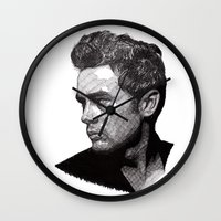 james franco Wall Clocks featuring James by Rik Reimert