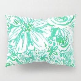 AQUA BIG SUNSHINE Watercolor Floral Pillow Sham