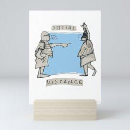 SOCIAL DISTANZ Mini Art Print