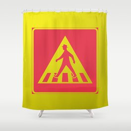 walking man  Shower Curtain
