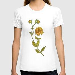 Dahlias Watercolor T-shirt