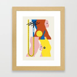SPACE DAMES Framed Art Print