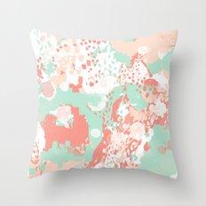 Anais - abstract minimal modern art print home office must have canvas wall art Throw Pillow