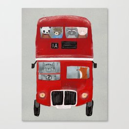 the little big red bus Canvas Print