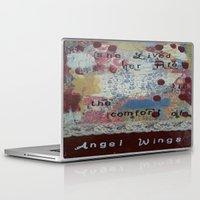 angel wings Laptop & iPad Skins featuring Angel wings  by drskippyart