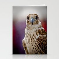 falcon Stationery Cards featuring Falcon  by Bader Al Awadhi