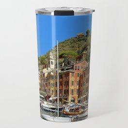 Colorful Fishing Village Travel Mug