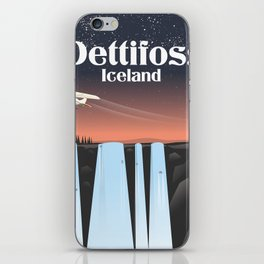 Dettifoss, iceland travel poster. iPhone Skin