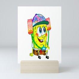 Naturday is for Spongebob Mini Art Print
