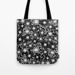 Poppy Black Tote Bag