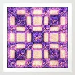Swirly Tiles Art Print