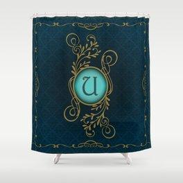 Letter U Shower Curtain