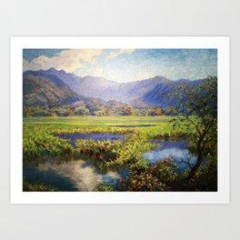 Manoa, Hawaiian landscape painting by Anna Woodward Art Print