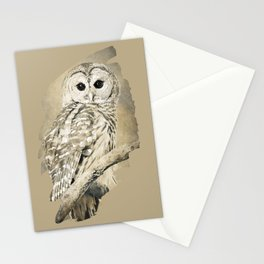Sepia Owl Stationery Cards