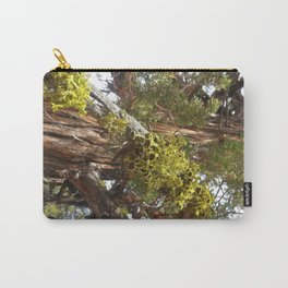 A Juniper Tree With Bright Green Lichen Carry-All Pouch