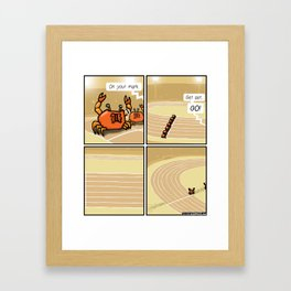 Crab race Framed Art Print