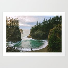 Hidden Cove on the Oregon Coast Art Print