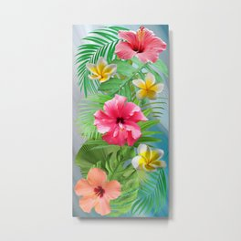 Tropical Collage Metal Print