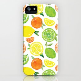 Citrus Pattern iPhone Case