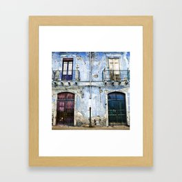 BLUE FACADE of SICILY Framed Art Print