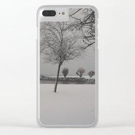 hallstatt under the snow (2) Clear iPhone Case